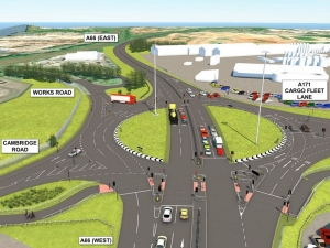 Work on New A66 'Throughabout' Junction Near Completion