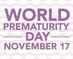 Fountain Flows Purple for World Prematurity Day